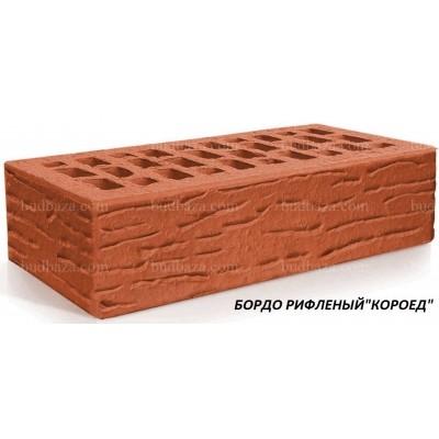 "Клинкерный кирпич Евротон рифлёный ""Короед"""